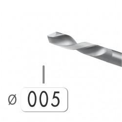 6 BROCAS ACERO Nº 58 DE 0,50 MM