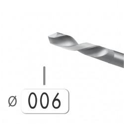 6 BROCAS ACERO Nº 58 DE 0,60 MM